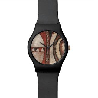 アフリカの盾の腕時計 腕時計