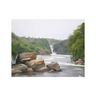 アフリカの真珠のMurchison Falls キャンバスプリント
