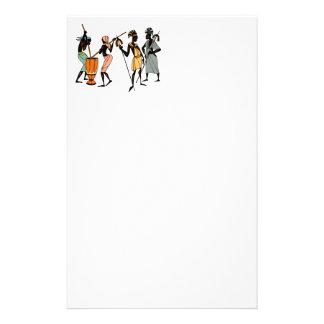アフリカの種族のアートペーパーシート 便箋