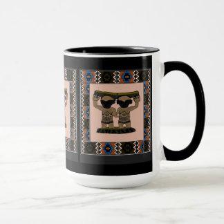 アフリカの種族の置物 マグカップ