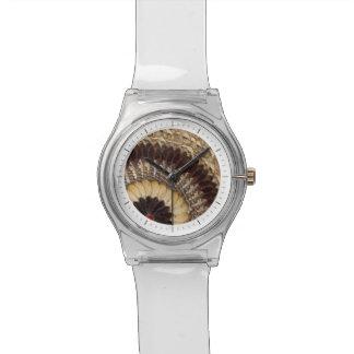 アフリカの種族の蝶によってはアール・デコパターンが飛びます 腕時計