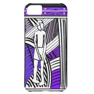 アフリカの種族の農家の紫色 iPhone5Cケース