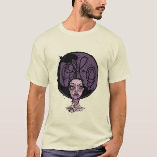 アフリカの紫色の女の子 Tシャツ