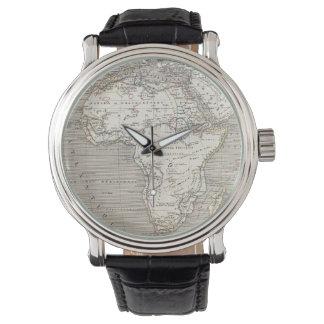 アフリカの腕時計のヴィンテージの地図 腕時計