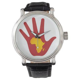 アフリカの腕時計の手 ウォッチ
