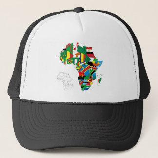 アフリカの自制心がある旗の地図 キャップ