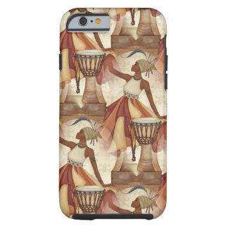 アフリカの芸術の地球は中立女性のドラムにある調子を与えます iPhone 6 タフケース