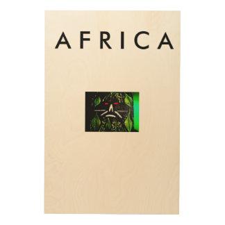 アフリカの芸術の壁 ウッドウォールアート