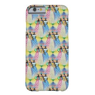 アフリカの芸術の春のピンクの緑の黄色の青 BARELY THERE iPhone 6 ケース