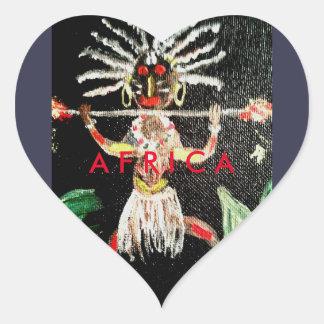 アフリカの芸術 ハートシール