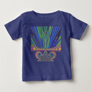 アフリカの装飾的なパターンモダンなデザイン色 ベビーTシャツ