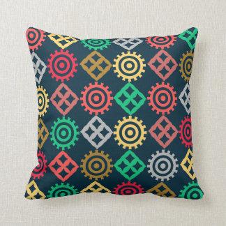 アフリカの記号の種族のプリントの枕 クッション