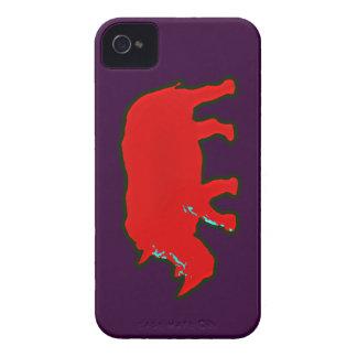 アフリカの赤いrhinocerus Case-Mate iPhone 4 ケース