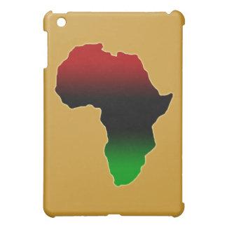 アフリカの赤く、黒いおよび緑の形 iPad MINIケース