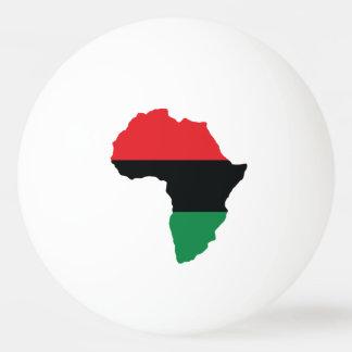 アフリカの赤く、黒い及び緑の旗 卓球ボール