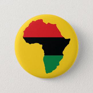 アフリカの赤く、黒い及び緑の旗 缶バッジ