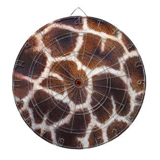 アフリカの野性生物のキリンの毛皮の写真のデザイン ダーツボード