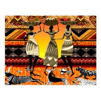 アフリカの饗宴 ポストカード