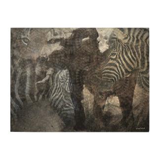 アフリカの、アジア野性生物 ウッドウォールアート