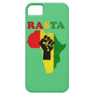 アフリカのiPhone 5の場合上のラスタのブラックパワーの握りこぶし iPhone SE/5/5s ケース