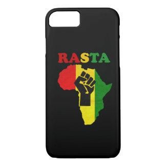 アフリカのiPhone 7の場合上のラスタのブラックパワーの握りこぶし iPhone 8/7ケース