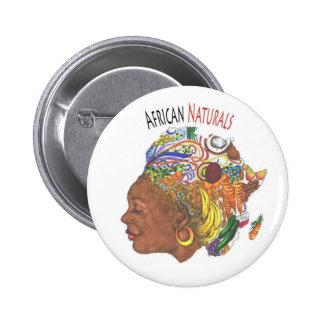アフリカのNaturalsの店ボタン 5.7cm 丸型バッジ