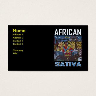 アフリカのSATIVA 名刺