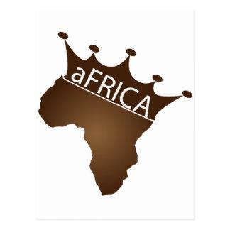 アフリカは戴冠しました ポストカード