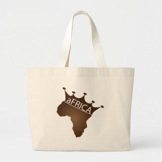 アフリカは戴冠しました ラージトートバッグ