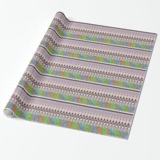 アフリカアジアの伝統的なパターン ラッピングペーパー