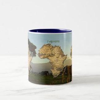 アフリカシリーズの地図 ツートーンマグカップ