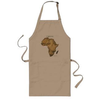 アフリカシリーズの地図 ロングエプロン