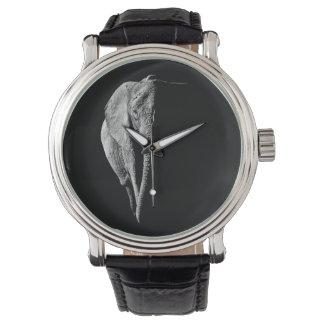 アフリカゾウが付いている腕時計 ウオッチ