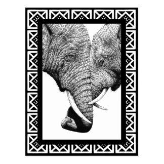 アフリカゾウの郵便はがき ポストカード