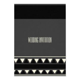 アフリカデザインの黒いですか灰色の結婚式招待状カード カード