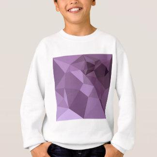 アフリカバイオレットの抽象芸術の低い多角形の背景 スウェットシャツ