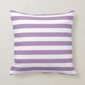 アフリカバイオレットの紫色のストライプパターン クッション