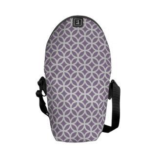 アフリカバイオレットの紫色の幾何学的 メッセンジャーバッグ