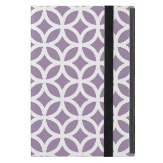 アフリカバイオレットの紫色の幾何学的 iPad MINI ケース