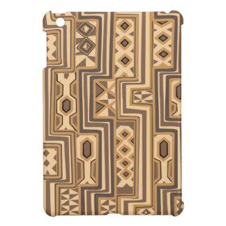 アフリカパターン: ブラウンの抽象的なアフリカの芸術 iPad MINIカバー