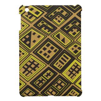アフリカパターン: ブラウンの抽象的なアフリカの芸術 iPad MINI カバー