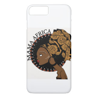 アフリカママのiPhone 7の場合の白 iPhone 8 Plus/7 Plusケース
