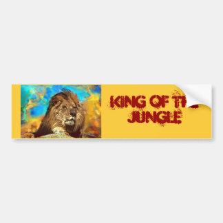 アフリカライオンデジタル芸術 バンパーステッカー