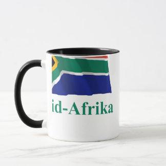 アフリカーンスの名前の南アフリカ共和国の振る旗 マグカップ