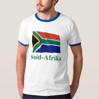 アフリカーンスの名前の南アフリカ共和国の振る旗 Tシャツ