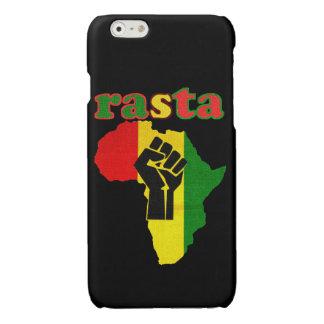 アフリカ上のラスタのブラックパワーの握りこぶし