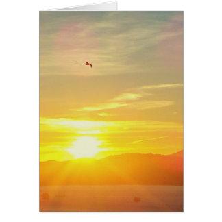 アフリカ上の日没 カード