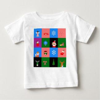 アフリカ人のサンタクロースのcolorblock ベビーTシャツ