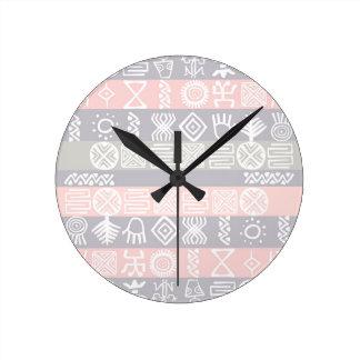 アフリカ人のBohoの民族のデザイン ラウンド壁時計