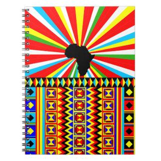 アフリカ人のKenteの布の種族のプリントパターンカラフル ノートブック